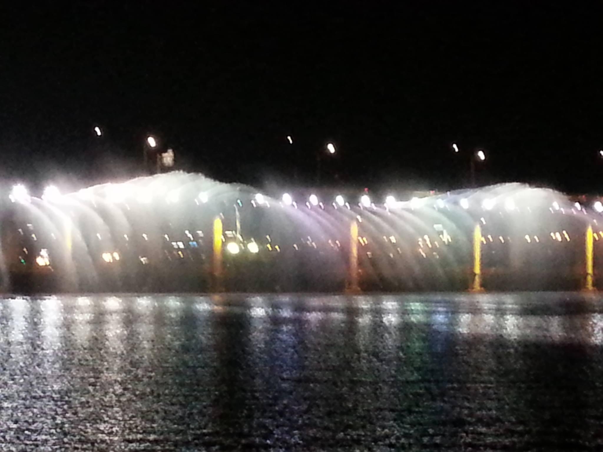 盤浦大橋レインボー噴水