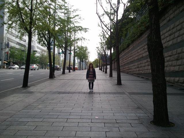 江南(新論峴)のホテル通り